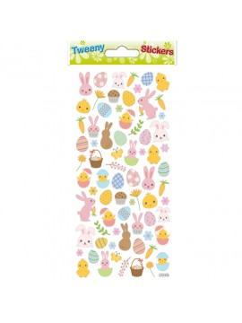 TWEENY *EASTER STICKERS 9X17.5CM 270976