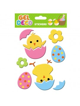 EASTER GEL STICKERS 13X17CM 320402