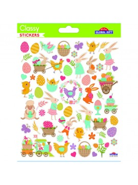 CLASSY EASTER STICKERS 15X17CM 218939