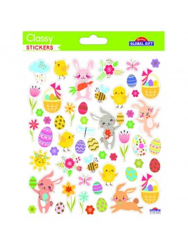 CLASSY *EASTER STICKERS 15X17CM 218945