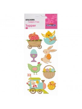 TOPPER EASTER STICKERS 8X12CM 410401