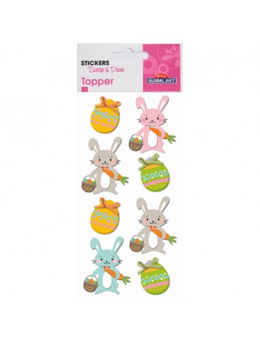 TOPPER EASTER STICKERS 8X12CM 410403