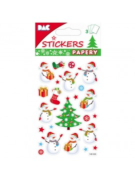 PAPERY *CHRISTMAS STICKERS 8X13CM 145523
