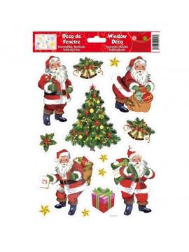 WINDOW CHRISTMAS STICKERS 20X30CM WD533