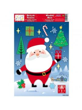 WINDOW CHRISTMAS STICKERS 20X30CM W30552