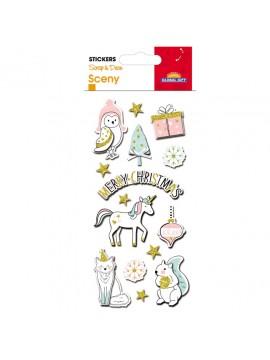 SCENY *CHRISTMAS STICKERS 8X12CM 540051