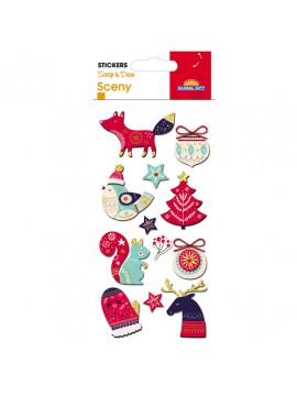 SCENY *CHRISTMAS STICKERS 8X12CM 540054