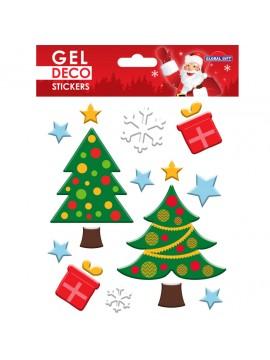 CHRISTMAS GEL STICKERS 13X17CM GN95