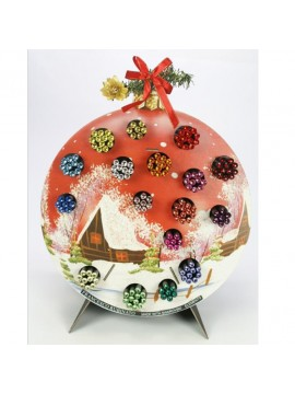ΜΟΛΥΒΙΑ ΜΕ SWAROVSKI ΣΕ ΣΤΑΝΤ CHRISTMAS BALL 170 ΤΜΧ. ΑΣΟΡΤΙ ΧΡΩΜΑΤΑ