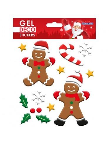 CHRISTMAS GEL STICKERS 13X17CM GN101