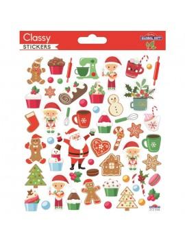 CLASSY CHRISTMAS STICKERS 15X17CM 212026