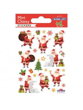 MINI CLASSY CHRISTMAS STICKERS 7.5X10CM 112013