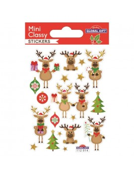 MINI CLASSY CHRISTMAS STICKERS 7.5X10CM 112014