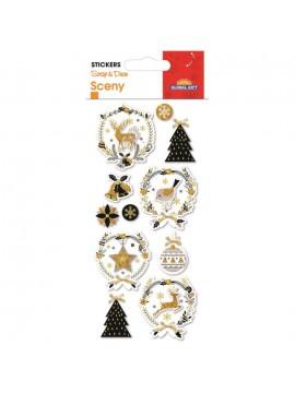 SCENY CHRISTMAS STICKERS 8X12CM 540057