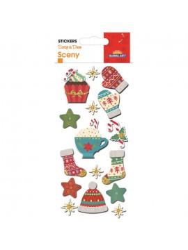 SCENY CHRISTMAS STICKERS 8X12CM 540058