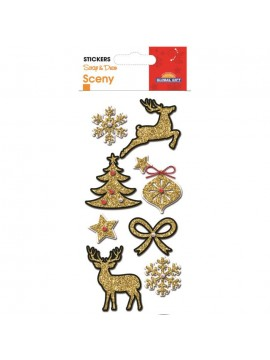 SCENY CHRISTMAS STICKERS 8X12CM 540059