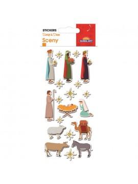 SCENY CHRISTMAS STICKERS 8X12CM 540061