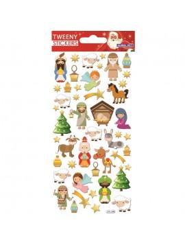 TWEENY CHRISTMAS STICKERS 9X17.5CM 270599