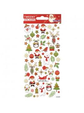 TWEENY CHRISTMAS STICKERS 9X17.5CM 270609