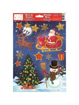 WINDOW CHRISTMAS STICKERS 20X30CM W30559