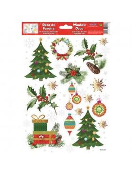WINDOW CHRISTMAS STICKERS 20X30CM W30561