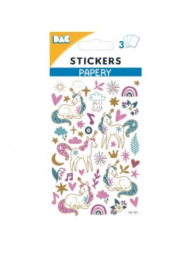 PAPERY STICKERS 8X13CM 145107