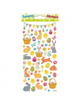 TWEENY EASTER STICKERS 9X17.5CM 272400